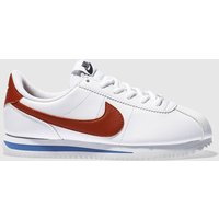 Nike White & Red Cortez Classic Trainers Youth