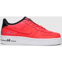 Nike Red Air Force 1 Lv8 3 Trainers Youth