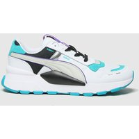 PUMA White & Green Rs 2.0 Futura Trainers Youth