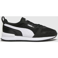 PUMA Black & White R78 Trainers Youth