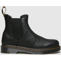 Dr Martens Black 2976 Fur Lined Chelsea Boots