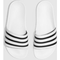 Adidas-White-and-Black-Adilette-Slide-Sandals