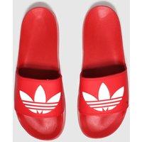 Adidas Red Adilette Lite Sandals