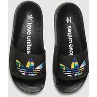 Adidas-Black-Adilette-Lite-Pride-Sandals