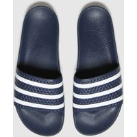 Adidas-Navy-and-White-Adilette-Sandals