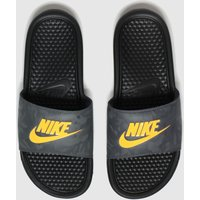 Nike-Black-and-Orange-Benassi-Sandals