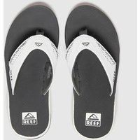 Reef White & Grey Fanning Sandals
