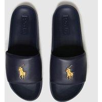 POLO RALPH LAUREN Navy & Gold Cayson Sandals