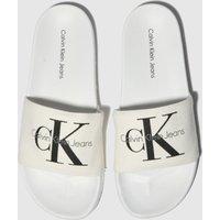 CALVIN KLEIN White & Black Viggo Sandals