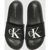 CALVIN KLEIN Black & White Viggo Sandals