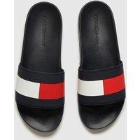 Tommy Hilfiger Navy & Red Essential Flag Pool Slide Sandals