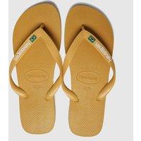 Havaianas Yellow Brasil Layers Sandals