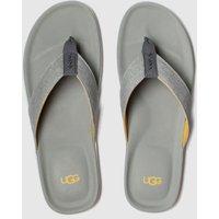UGG-Grey-Brookside-Flip-Canvas-Sandals