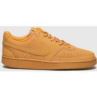 Nike-Tan-Court-Vision-Low-Trainers