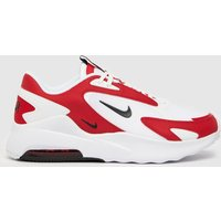 Nike White & Red Air Max Bolt Trainers