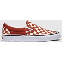 Vans-Brown-and-Stone-Classic-Slipon-Check-Trainers