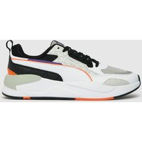 PUMA White & Black X-ray Square Scary Trainers
