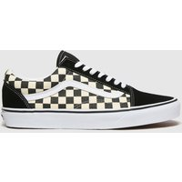 Vans-Black-and-White-Old-Skool-Primary-Check-Trainers