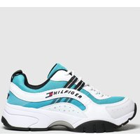 Tommy Hilfiger White & Blue Heritage Runner Trainers