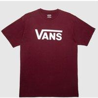 'Vans Classic T-shirt In Burgundy