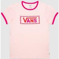 'Vans Girls Lola T-shirt In Pale Pink