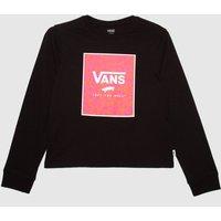 'Vans Girls Zoo Box Ls In Black & Pink