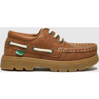 Kickers Tan Lennon Boatshoe Boots Toddler