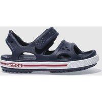 Crocs Navy & White Crocband Sandal Sandals Toddler