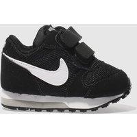 'Nike Black & White Md Runner 2 Trainers Toddler