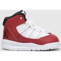 Nike Jordan White & Red Max Aura Trainers Toddler