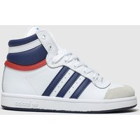 Adidas White & Blue Top Ten Hi Trainers Toddler