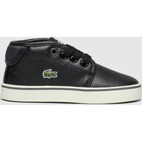 Lacoste Black & Grey Ampthill Trainers Toddler