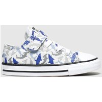 Converse Grey & Navy 1v Lo Shark Bite Trainers Toddler