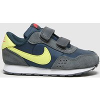 'Nike Navy & Lime Md Valiant Trainers Toddler
