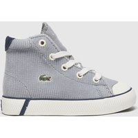 Lacoste White & Grey Gripshot Mid Trainers Toddler