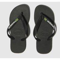 Havaianas Black Brasil Logo Sandals Junior