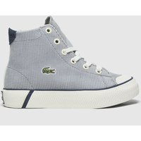 Lacoste White & Grey Gripshot Mid Trainers Junior