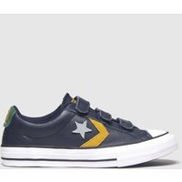 Converse Navy Star Player 3v Lo Trainers Youth