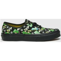 Vans Black & Green Authentic Simpsons Trainers Youth