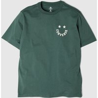 Clothing Converse Dark Green Happyface Graphic Tee