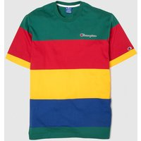 Clothing Champion Green & Red Crewneck T-shirt