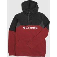 Clothing-Columbia-Black-and-Red-Lodge-Ii-Hoodie-Fleece