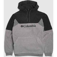 Clothing-Columbia-Grey-and-Black-Lodge-Ii-Hoodie-Fleece