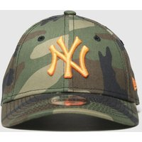 Accessories New Era Dark Green Kids Camo Ny Yankees 9forty