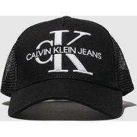 Accessories CALVIN KLEIN Black Jeans Monogram Mesh Trucker