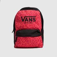 'Vans Black & Pink Kids Realm Backpack