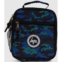 Hype Navy & Green Neon Logo Camo Lunch Bag