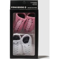 Accessories Converse White & Pink Cons Booties 2pk