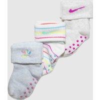 Accessories Nike White & Grey Kids Rainbow Gripper 3pk