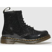 Dr Martens Black & Silver 1460 Glitter Boots Toddler